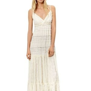 Willow & clay camisole lace maxi dress size M